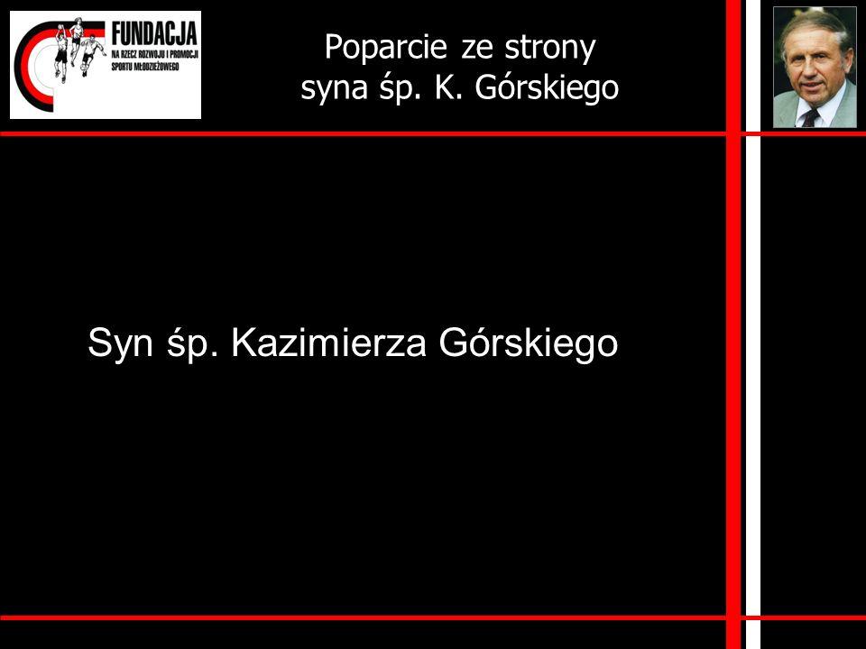 Poparcie ze strony syna śp. K. Górskiego