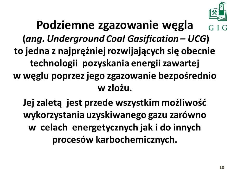 Podziemne zgazowanie węgla (ang