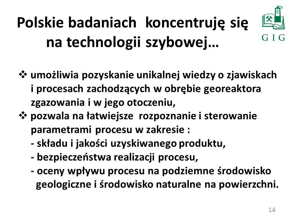 Polskie badaniach koncentruję się na technologii szybowej…
