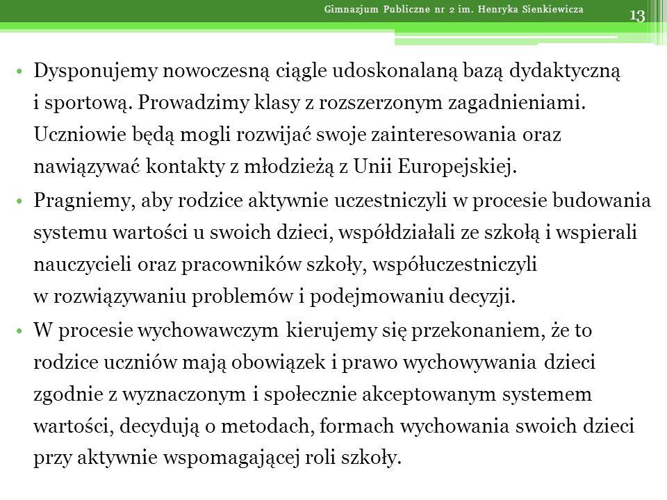 Gimnazjum Publiczne nr 2 im. Henryka Sienkiewicza