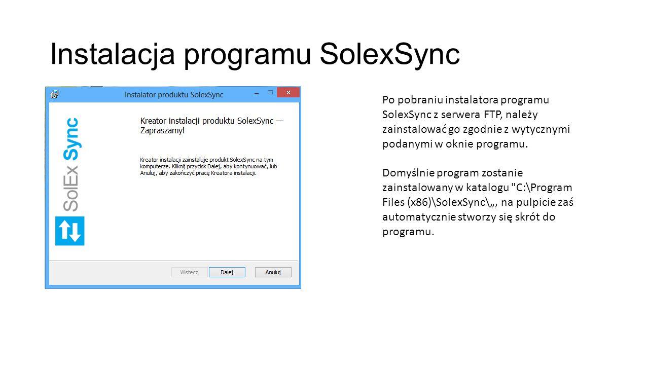 Instalacja programu SolexSync