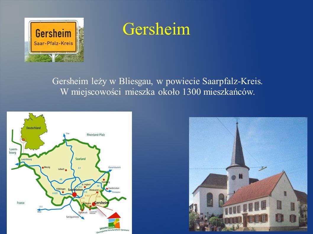 Gersheim Gersheim leży w Bliesgau, w powiecie Saarpfalz-Kreis.
