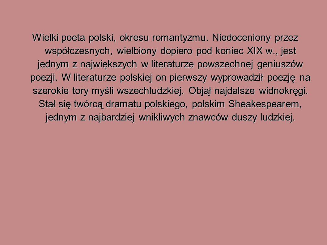 Wielki poeta polski, okresu romantyzmu