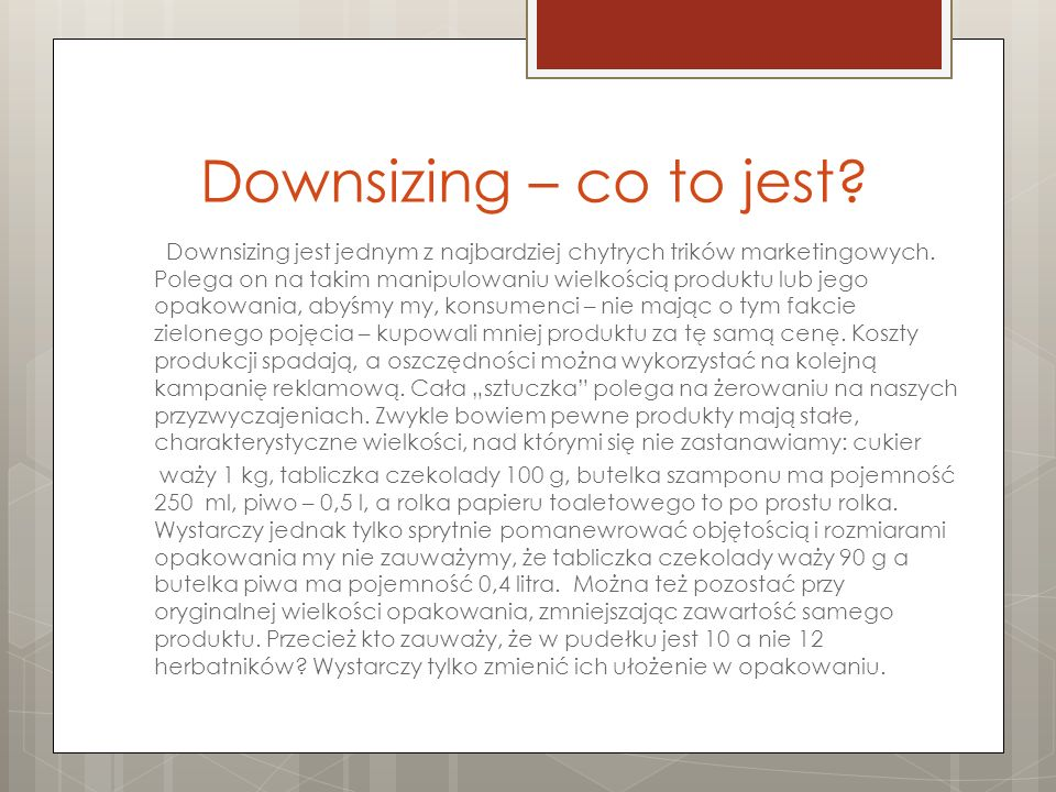 Downsizing – co to jest