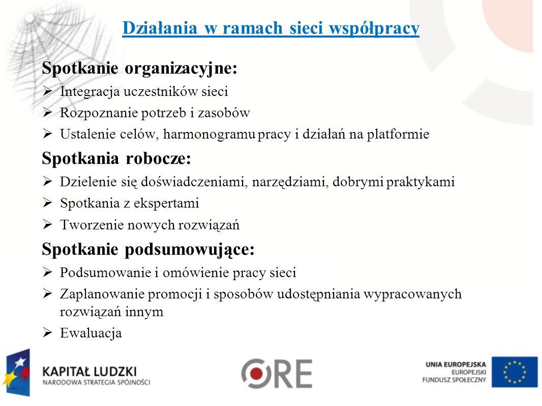 Działania w ramach sieci współpracy