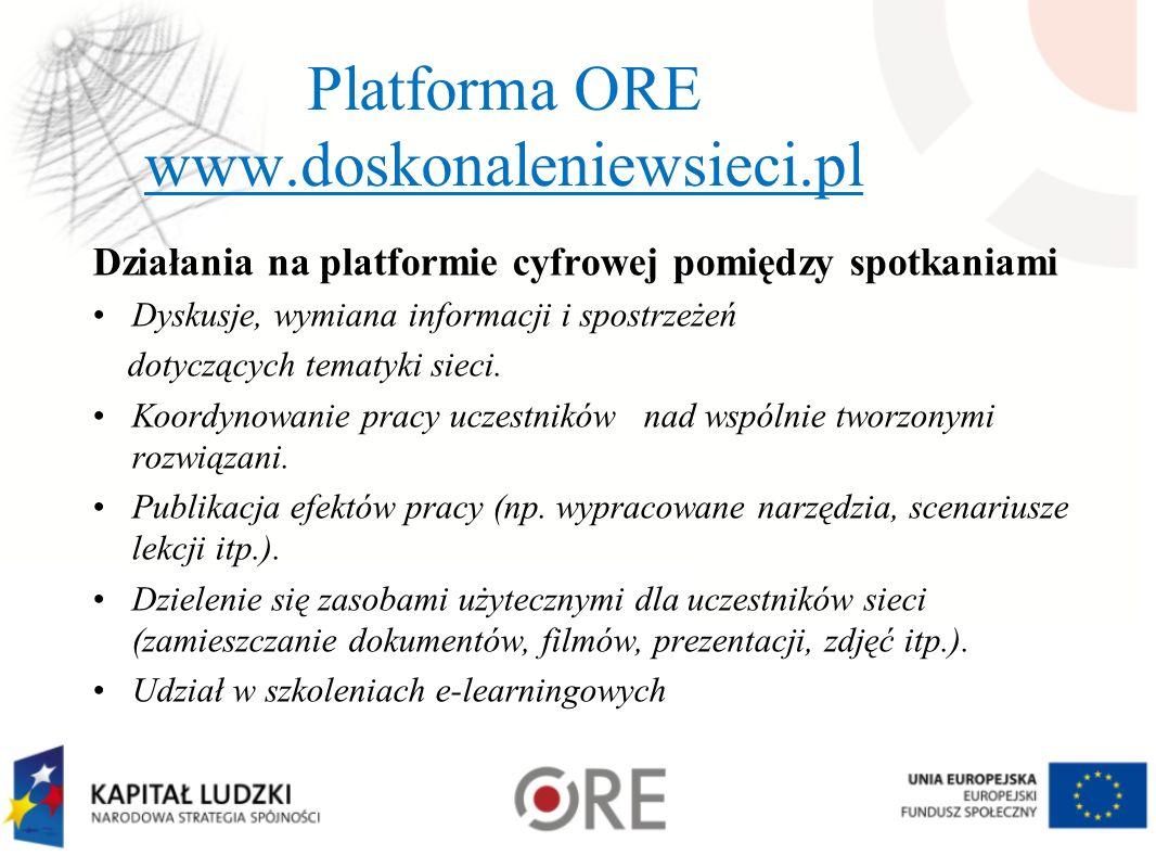 Platforma ORE www.doskonaleniewsieci.pl