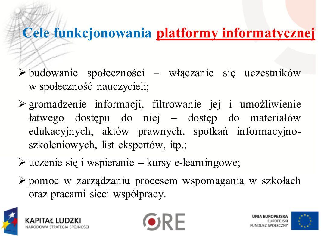 Cele funkcjonowania platformy informatycznej