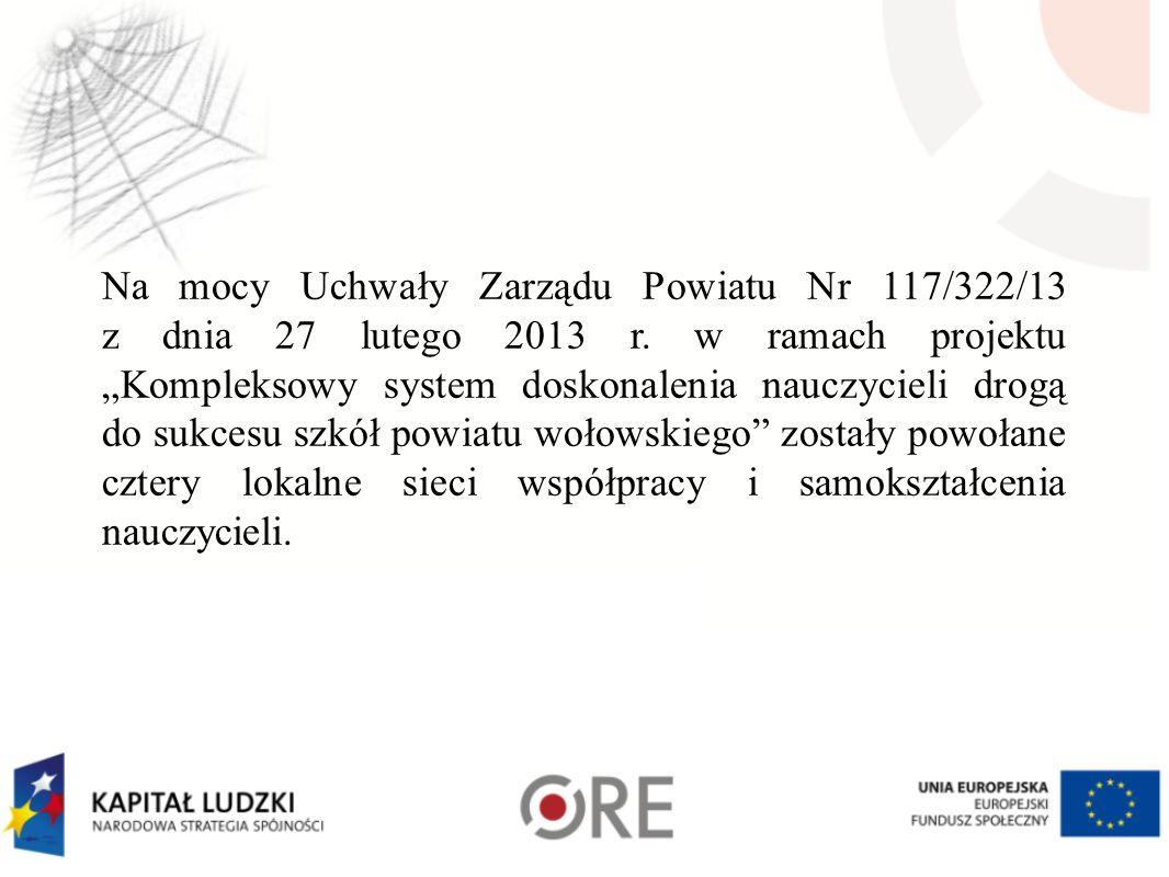Na mocy Uchwały Zarządu Powiatu Nr 117/322/13 z dnia 27 lutego 2013 r