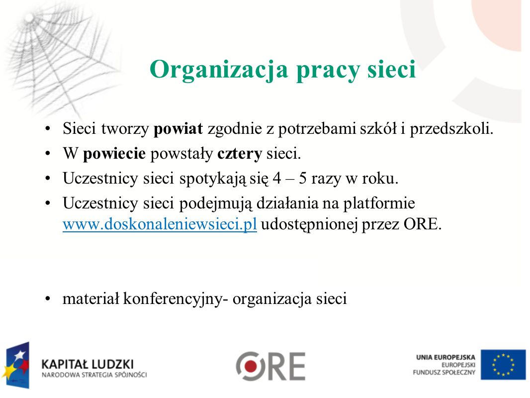 Organizacja pracy sieci