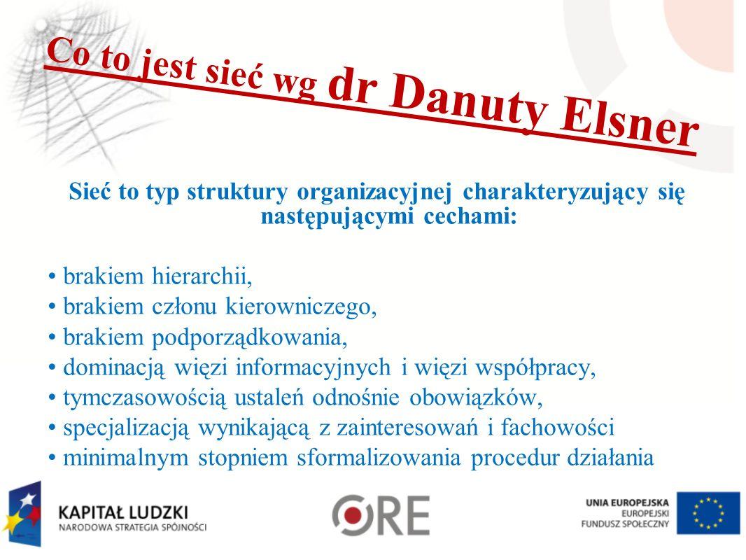 Co to jest sieć wg dr Danuty Elsner