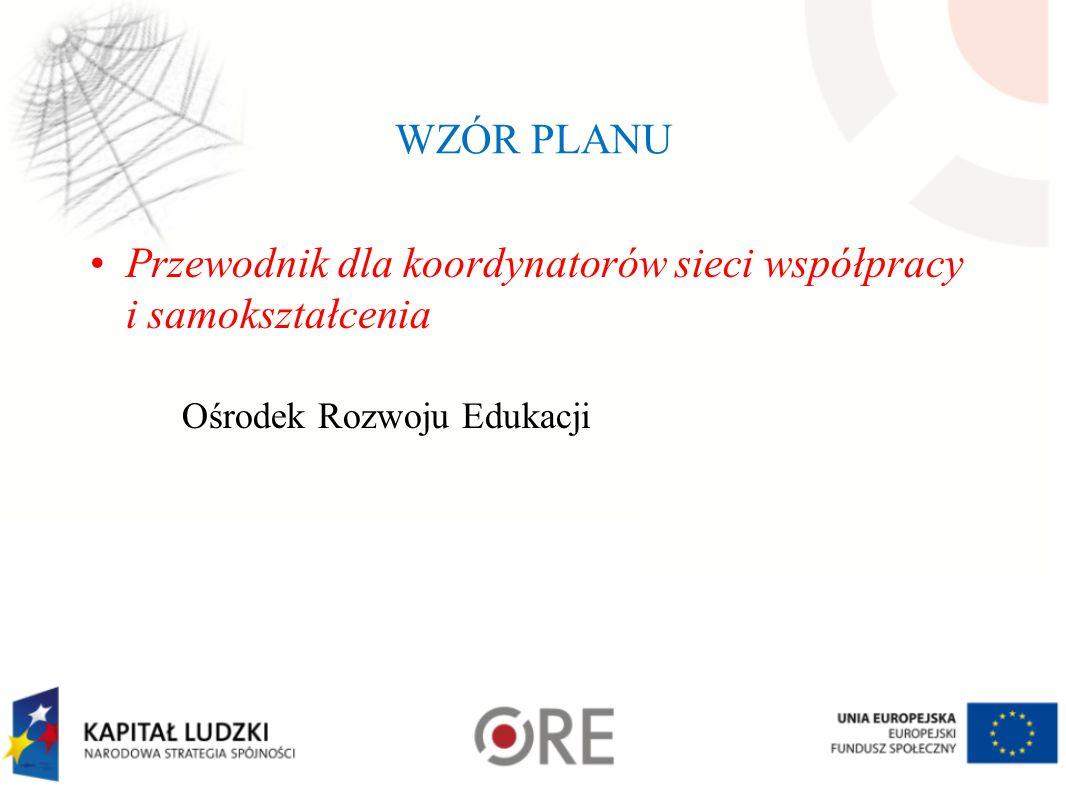 Przewodnik dla koordynatorów sieci współpracy i samokształcenia