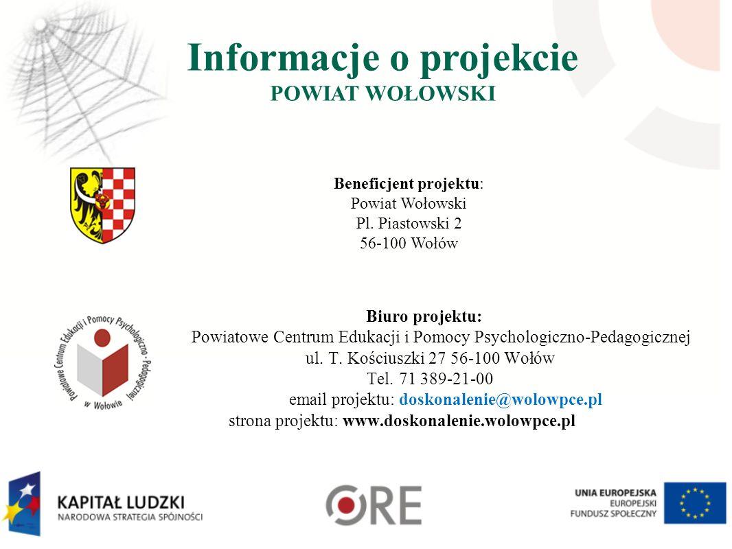 Informacje o projekcie POWIAT WOŁOWSKI