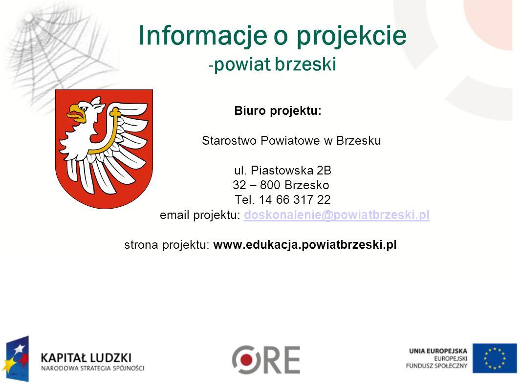 Informacje o projekcie -powiat brzeski