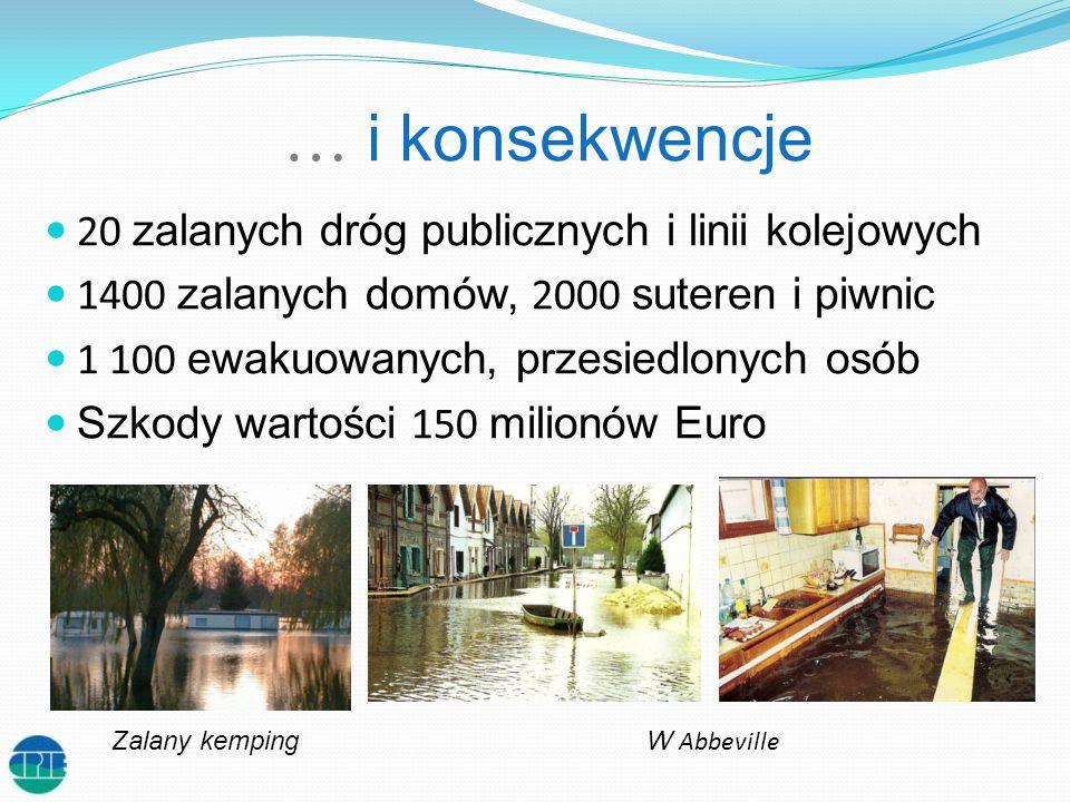 … i konsekwencje 20 zalanych dróg publicznych i linii kolejowych