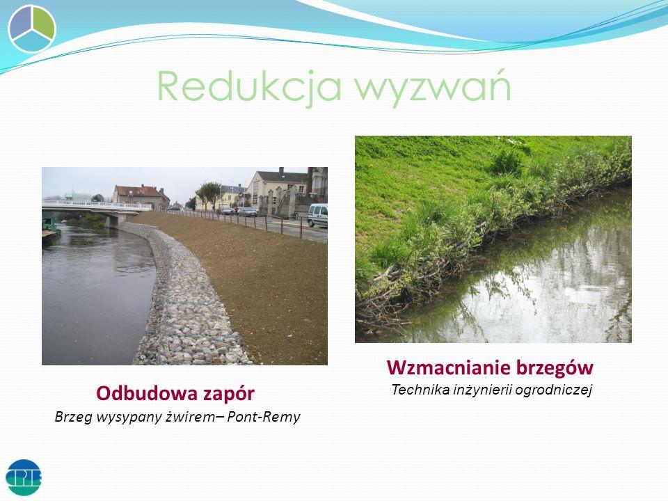 Redukcja wyzwań Wzmacnianie brzegów Odbudowa zapór