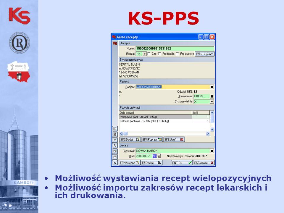 KS-PPS Możliwość wystawiania recept wielopozycyjnych