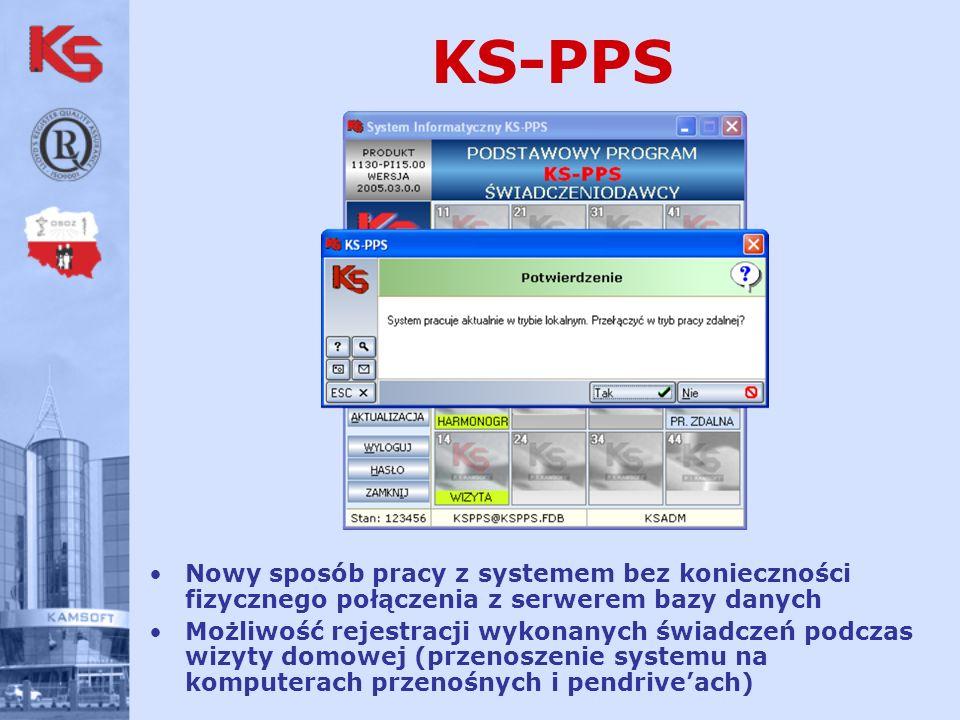 KS-PPS Nowy sposób pracy z systemem bez konieczności fizycznego połączenia z serwerem bazy danych.