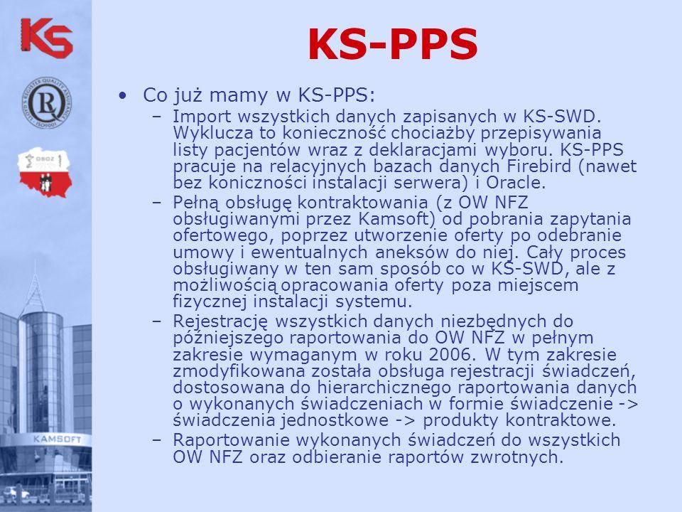 KS-PPS Co już mamy w KS-PPS: