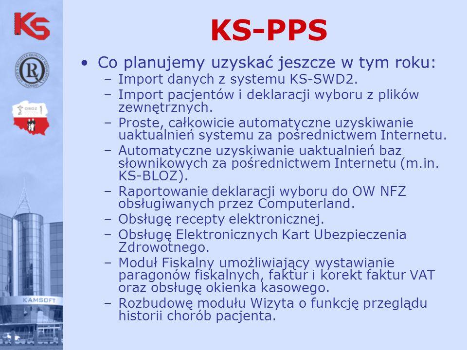 KS-PPS Co planujemy uzyskać jeszcze w tym roku: