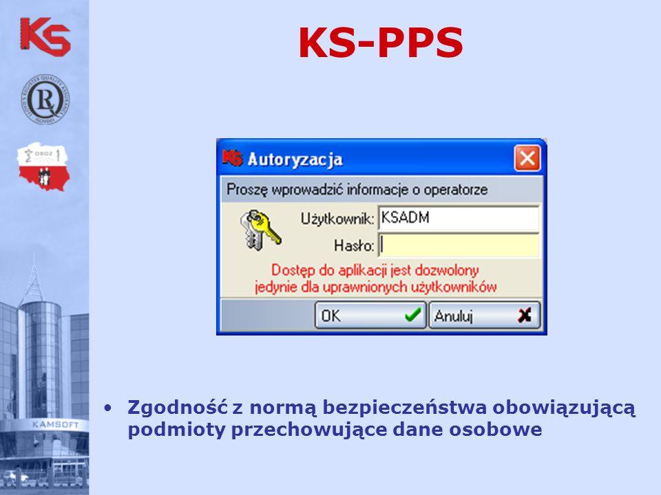 KS-PPS Zgodność z normą bezpieczeństwa obowiązującą podmioty przechowujące dane osobowe