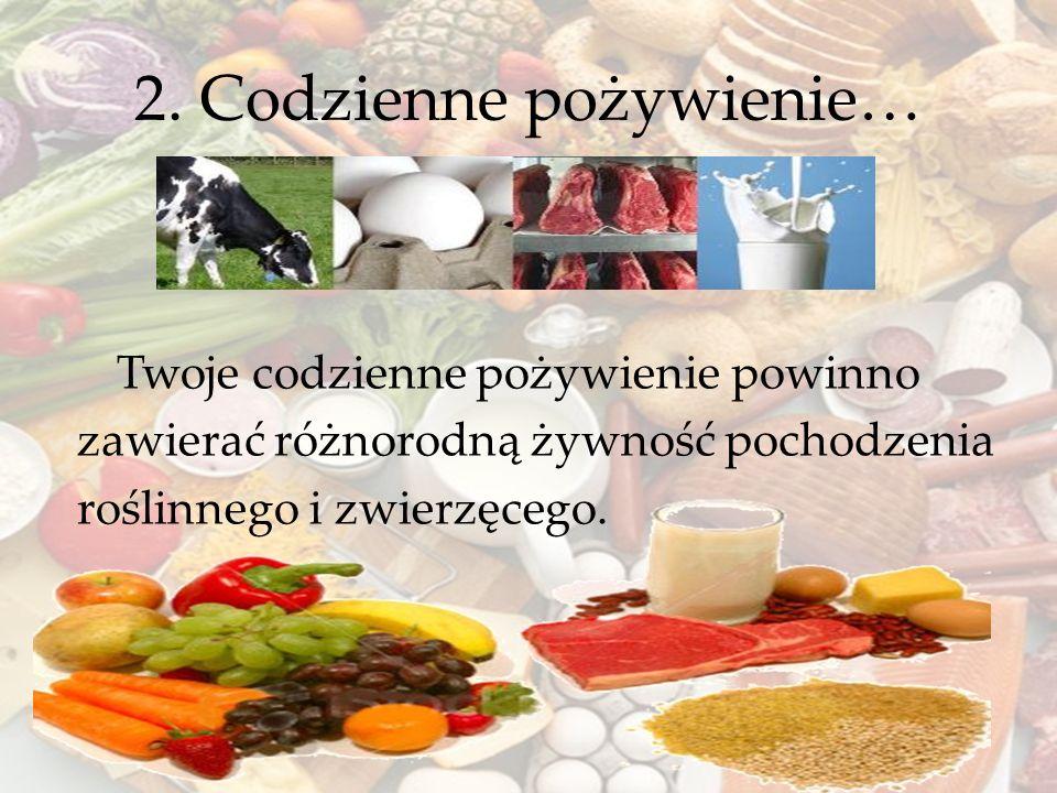 2. Codzienne pożywienie…