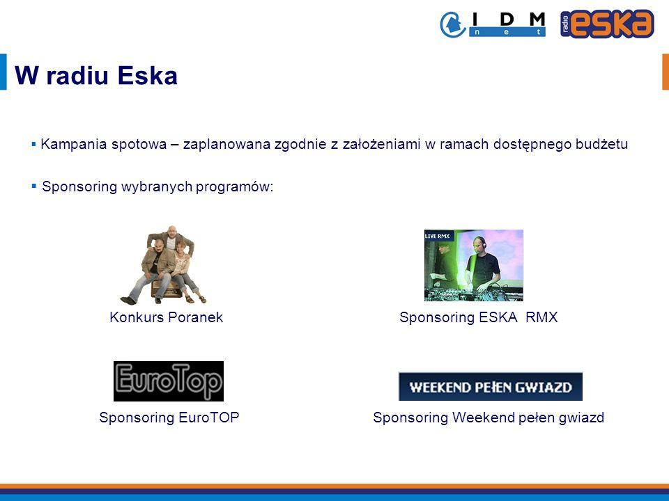 W radiu Eska Sponsoring wybranych programów: Konkurs Poranek