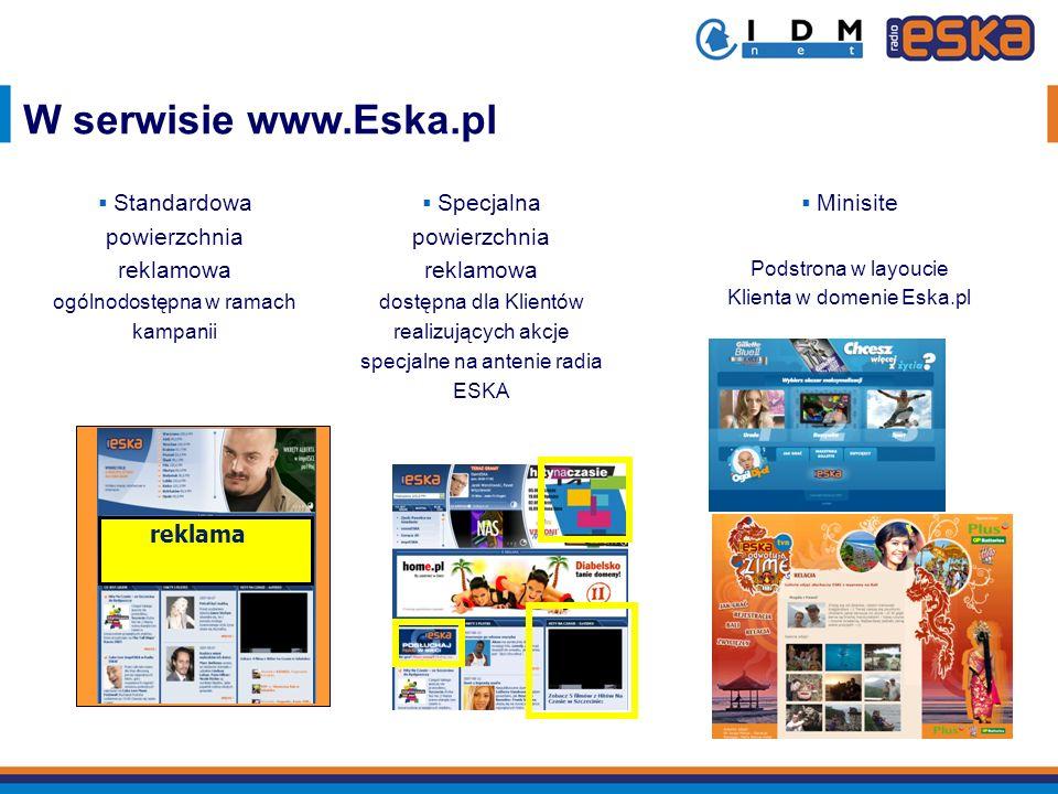 W serwisie www.Eska.pl reklama