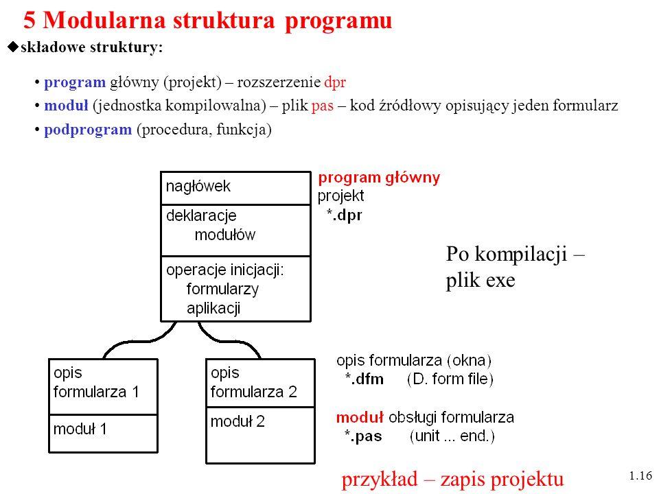 5 Modularna struktura programu