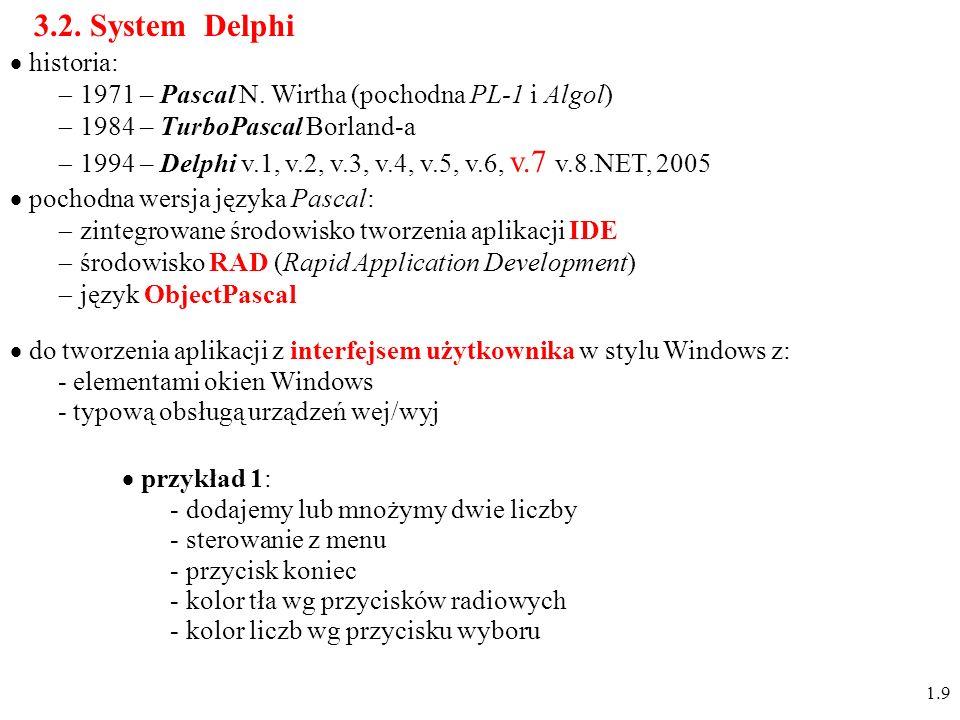 3.2. System Delphi historia: