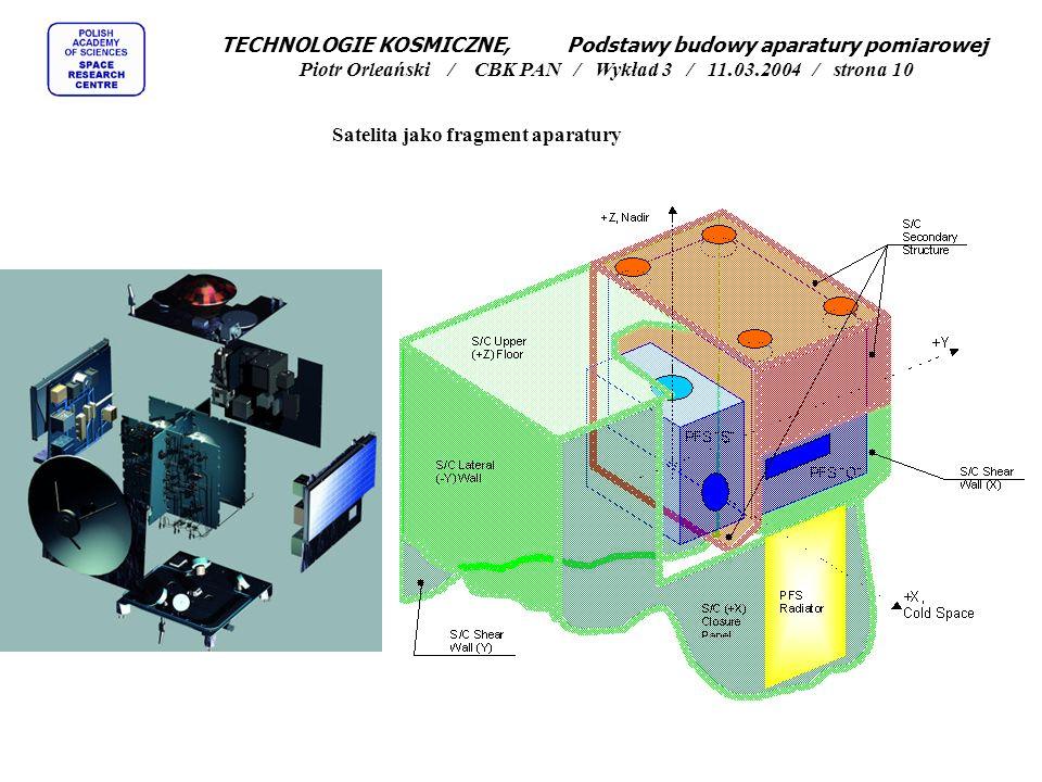 TECHNOLOGIE KOSMICZNE, Podstawy budowy aparatury pomiarowej Piotr Orleański / CBK PAN / Wykład 3 / 11.03.2004 / strona 10