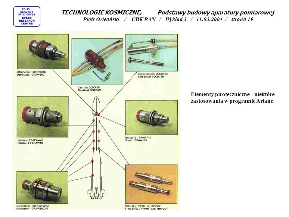 TECHNOLOGIE KOSMICZNE, Podstawy budowy aparatury pomiarowej Piotr Orleański / CBK PAN / Wykład 3 / 11.03.2004 / strona 19