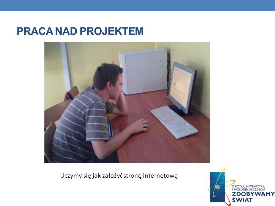 Praca nad projektem Uczymy się jak założyć stronę internetową