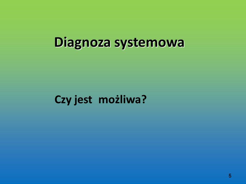 Diagnoza systemowa Czy jest możliwa