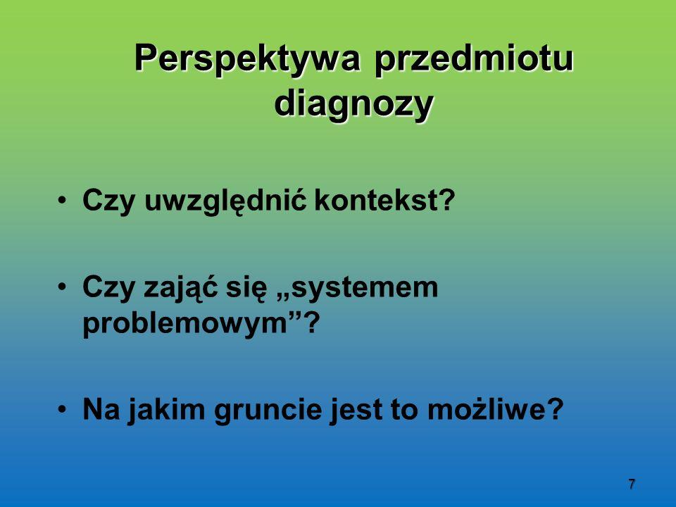 Perspektywa przedmiotu diagnozy