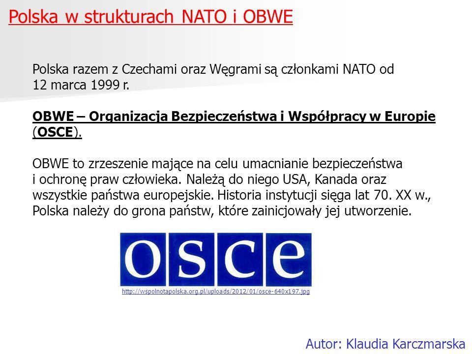 Polska w strukturach NATO i OBWE