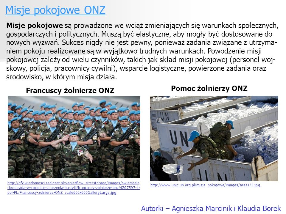 Francuscy żołnierze ONZ
