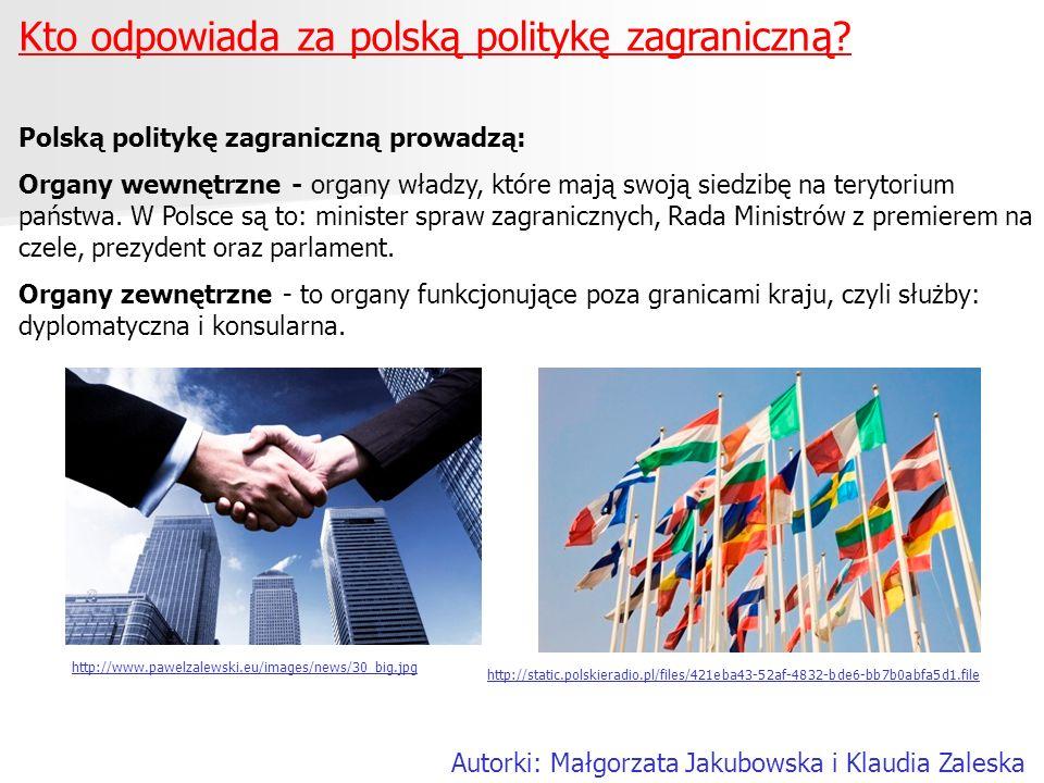 Kto odpowiada za polską politykę zagraniczną