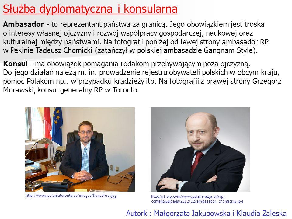 Służba dyplomatyczna i konsularna