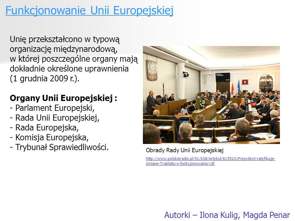 Funkcjonowanie Unii Europejskiej