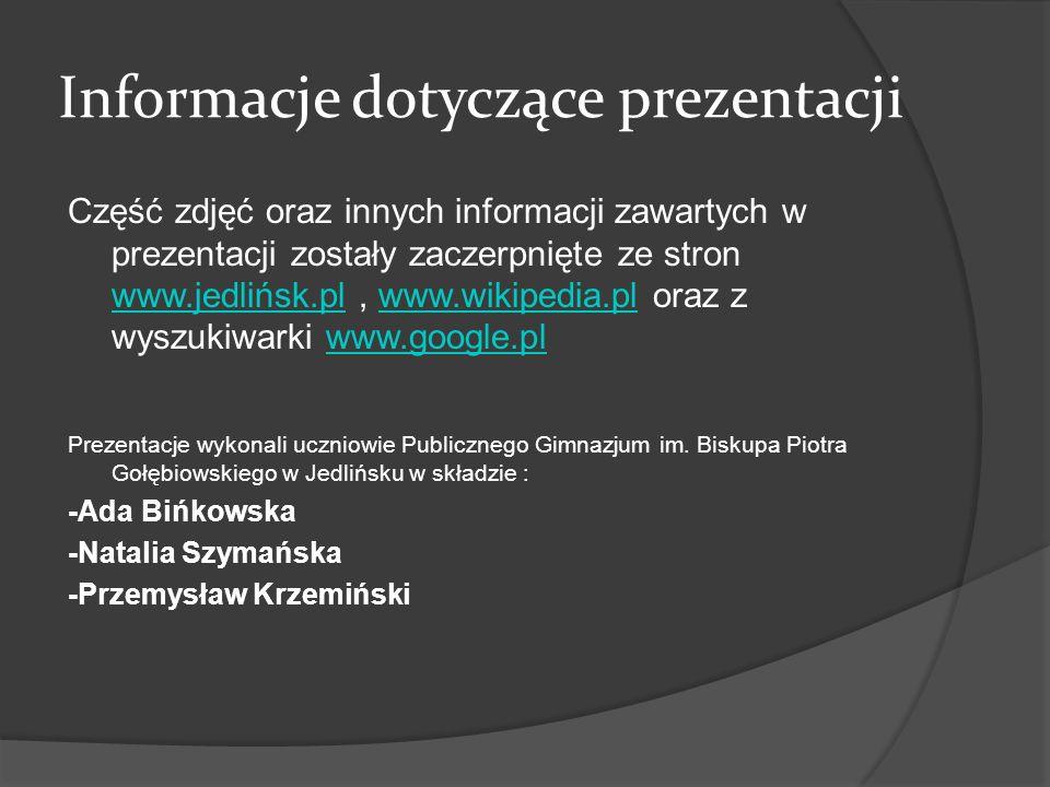 Informacje dotyczące prezentacji