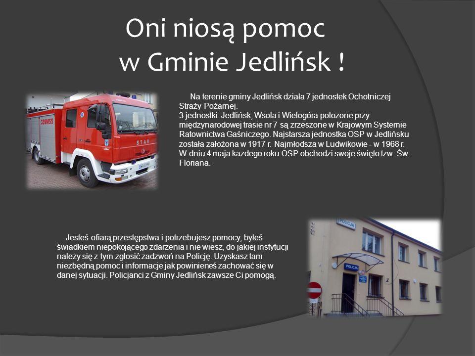 Oni niosą pomoc w Gminie Jedlińsk !