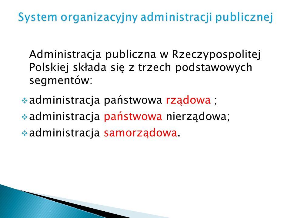 System organizacyjny administracji publicznej