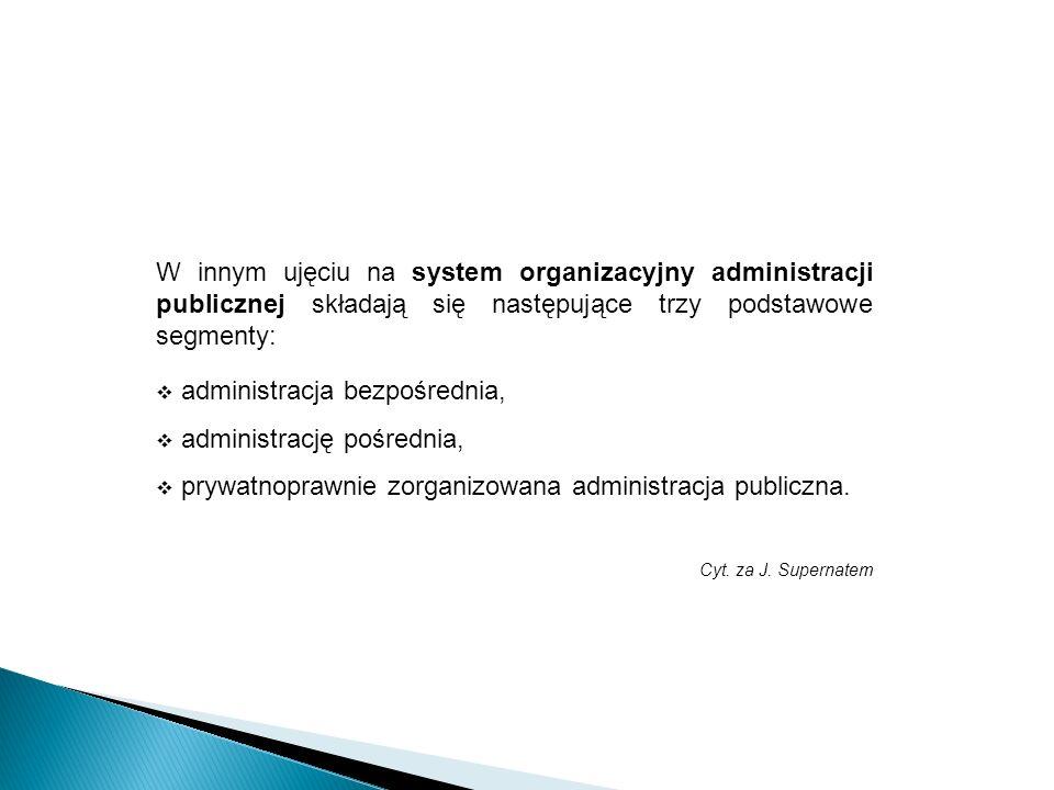 administracja bezpośrednia, administrację pośrednia,