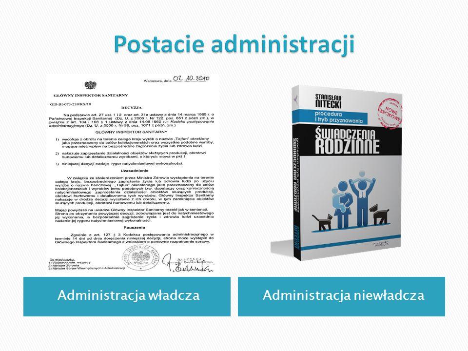Postacie administracji