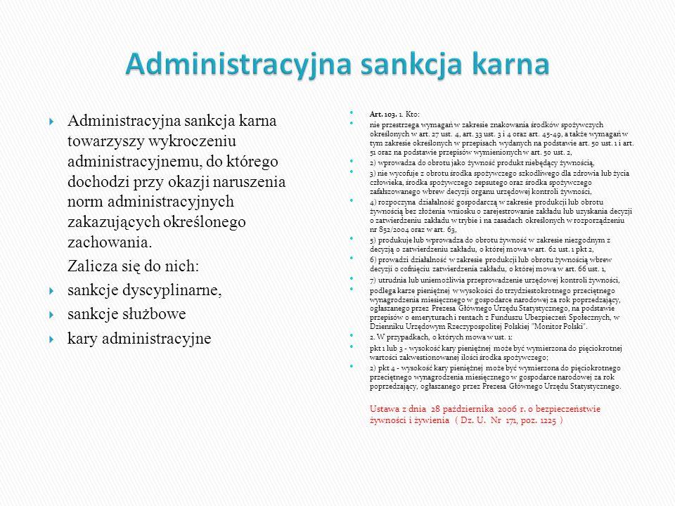 Administracyjna sankcja karna