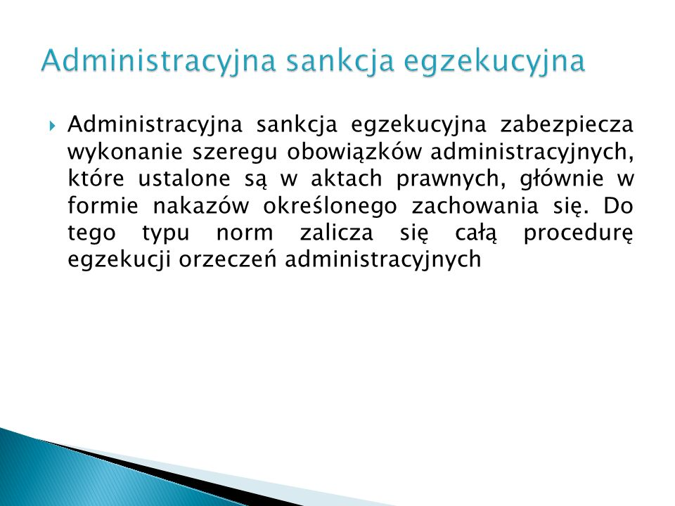 Administracyjna sankcja egzekucyjna