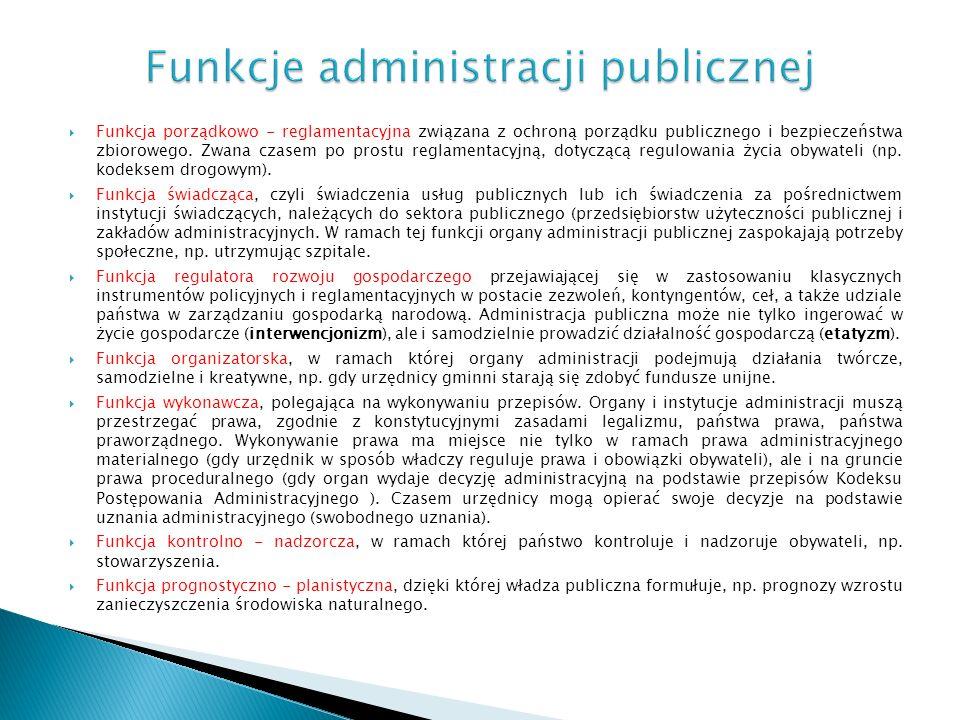 Funkcje administracji publicznej