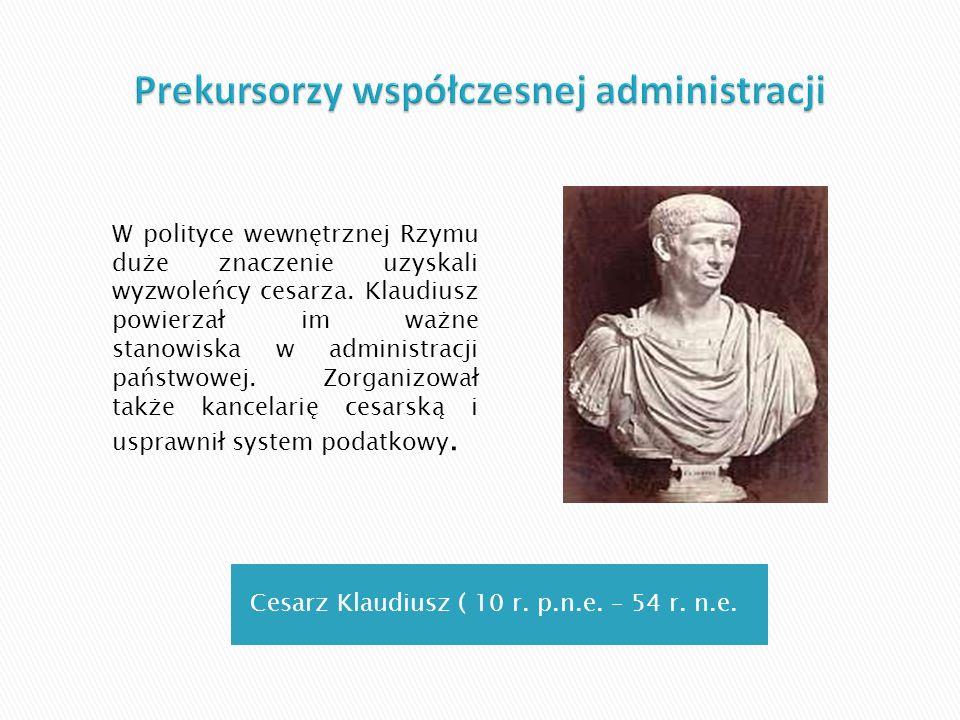 Prekursorzy współczesnej administracji