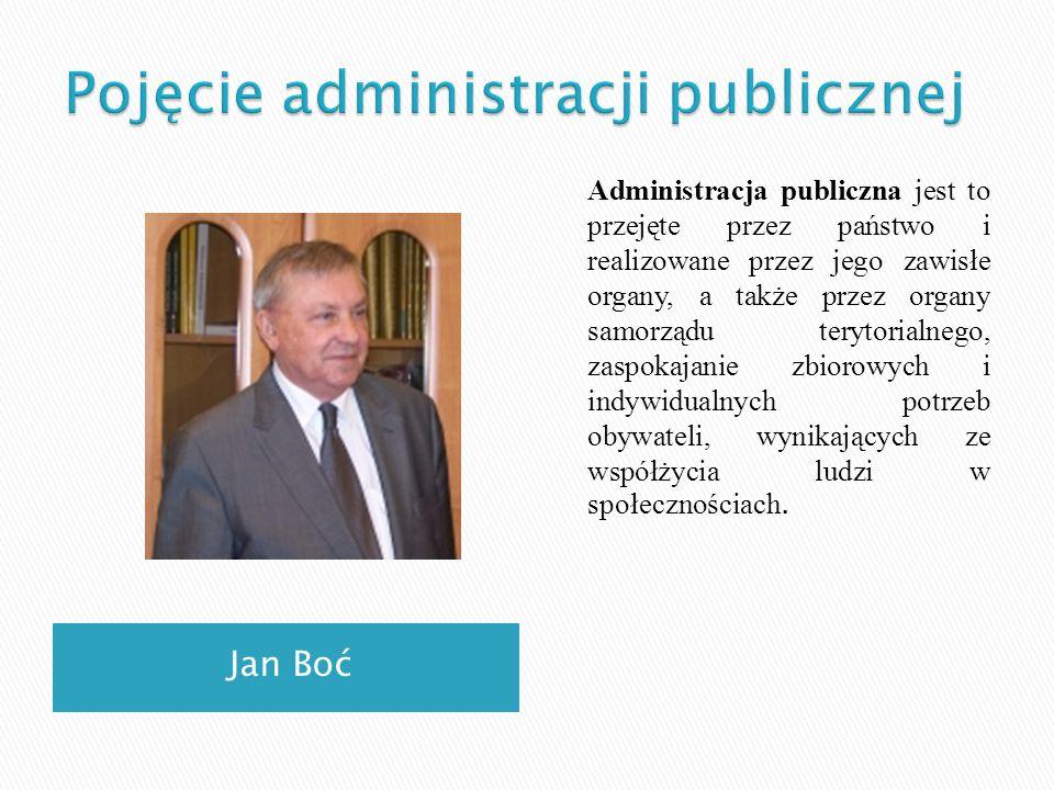 Pojęcie administracji publicznej