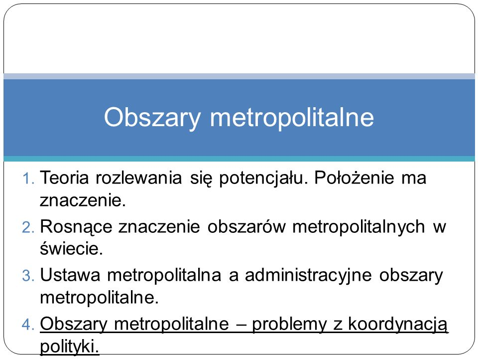 Obszary metropolitalne